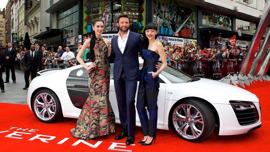 Wolverine s'affiche avec l'Audi R8 Spyder