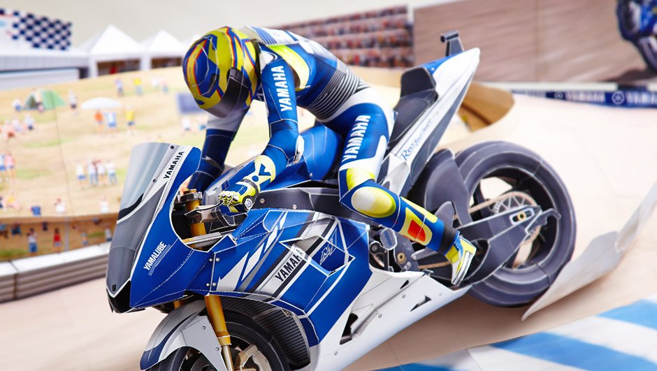 Insolite : Yamaha sort une maquette de Valentino Rossi